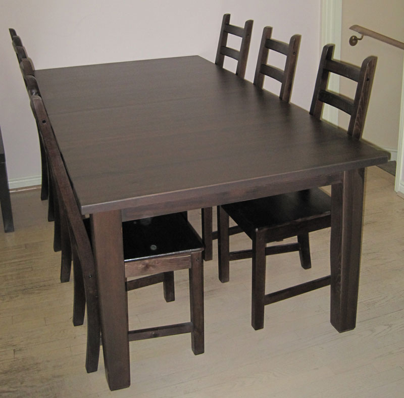 Dining Table Ikea Industrial Dining Table From A Simple Ikea